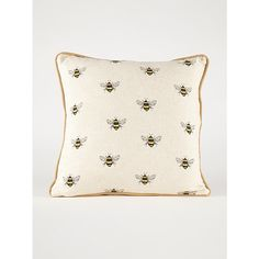 Add some buzz to your home décor with this bumblebee cushion from George Home, finished with piping around the edges. Bumble Bee Decorations, Yellow Room Decor, Garden Log Cabins, Conservatory Furniture, Bedding Shop, Asda, Cushions, Throw Pillows, Home