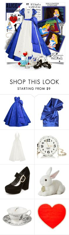 """Halloween Costume-Alice In Wonderland"" by prettyasapicture ❤ liked on Polyvore featuring Mark Bumgarner, Yves Saint Laurent, Alex Perry, Old Navy, Kate Spade, Alice + Olivia and ban.do"
