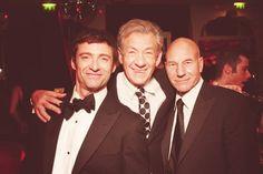 Wolverine, Magneto, and Professor X