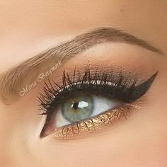 Winged liner with gold underneath - really draws attention to your eyes