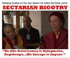 Kelsang Gyatso and the real reason he hates the Dalai Lama. (Sectarian bigotry)