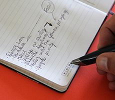 notebook designed for livescribe smartpens + app | handwritten notes appear in digital form | livescribe moleskine