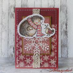 Vánoční+přání+ježeček+Práníčko+a6,+ručně+vyrobené+z+papíru.