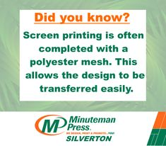 Design, printing and promotional products, we are the place to go for all of your marketing products and services. You won't have any complaints with your local Minuteman Press franchise. Printing Press, Screen Printing, Mass Production, Rolled Paper, How To Run Faster, Singles Day, Hoe, Rotary, Inventions