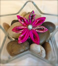 Kanzashi Flower Hair Clips  **Check this ETSY store out** ----->Nella's Creations<-----