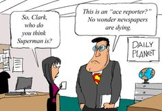 Clark Kent, on the demise of newspapers