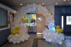 Ducky Duck Baby Shower Ideas: Awesome Balloon Decorations!