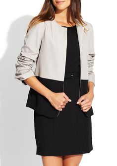 COSTA BLANCA Long Sleeve Colorblock Blazer