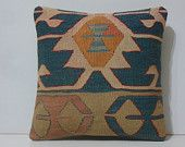 16x16 tribal pillows DECOLIC moroccan decor tappeti orientali kissen 40x40 kids bedroom decor striped carpet blue 14377 kilim pillow 40x40