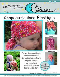 Patron chapeau foulard élastique nouveau-né enfant 3 par Evelune
