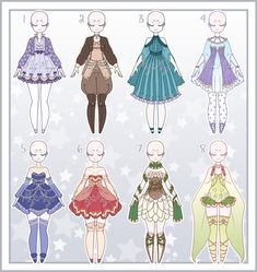 Cartoon Outfits, Anime Outfits, Drawing Anime Clothes, Anime Character Drawing, Fashion Illustration Sketches, Anime Dress, Fashion Design Drawings, Fantasy Character Design, Character Outfits