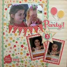 the Holmes Crew Birthday Scrapbook Layouts, 12x12 Scrapbook, Scrapbook Paper Crafts, Scrapbooking Layouts, October Afternoon, Layout Inspiration, Birthday Fun, Mini Books, Card Making