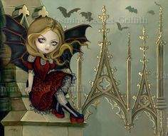 Gothic Cathedral Bat Fairy:  Bats in the Belfry by Jasmine Becket-Griffith