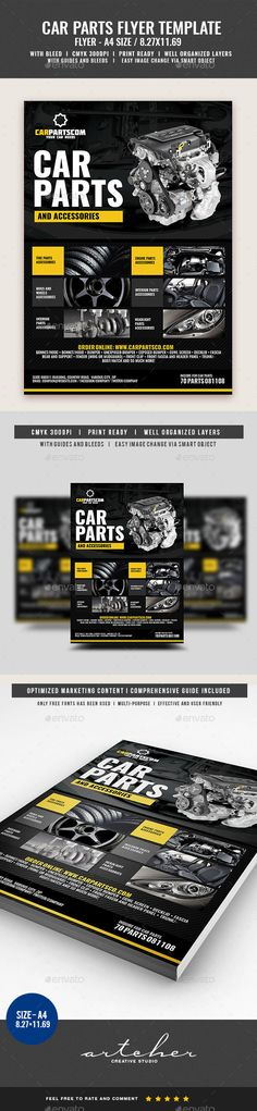 Auto Parts Flyer Template Flyer template, Template and Brochures - auto detailing flyer template