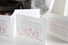 Whimsical Typography Letterpress Baby Announcements Albertine Press11 550x366 Baby Emilys Whimsical Typography Birth Announcements