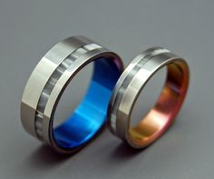 wedding ring mens ring womens ring titanium ring titanium wedding ring black ring something blue when you entered the room ii