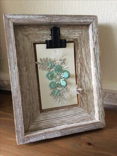 Stampin Up Botanical Builders picture frame gift. Mint Macaron, Sahara Sand and Very Vanilla