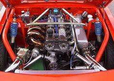 Nice looking turbocharged and supercharged and slid into an Opel Manta body with a BMW transmission. Puts out a reported 578 hp. Built by Ronnie Hilmersson. Volvo Wagon, Volvo Cars, Vw Engine, Volvo 850, Tuner Cars, Go Kart, Cars And Motorcycles, Luxury Cars, Cool Cars