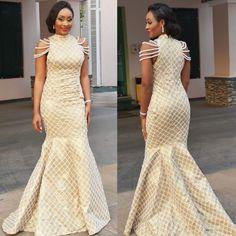 29 Royal Asoebi Styles For Posh Slay Queens - AfroCosmopolitan African Dresses For Women, African Print Dresses, African Print Fashion, African Attire, African Wear, African Fashion Dresses, African Women, Ghanaian Fashion, African Prints