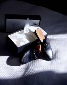 Before I speech, click the photo to see 10 alternative loafer slides I found… Back to the above: Knowing my gravitational pull to men's styles (hello), I brooded over these Gucci Princetown leather sl
