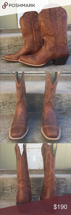 Ariat Legend Boots Make me a reasonable offer! Women's. New, only worn once. Russet Rebel color. Do not come with original box. *No trades. Ariat Shoes Heeled Boots