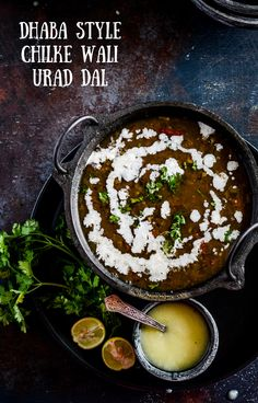 Healthy nutritious black gram lentil soup prepared like you get in highway dhaba is aromatic and best enjoyed with plain rice. In association with Ekgaon! Urad Dal Recipes, Veg Recipes, Indian Food Recipes, Cooking Recipes, Ethnic Recipes, Coriander Powder, Fresh Coriander, Black Gram, Kitchens