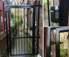 RSG3200 pedestrian gate fitted to a communal flat entrance in Acton, London.