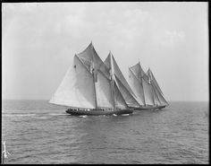 Fishing schooners Elsie and Columbia August 1929.  Amazing that vessels this beautiful were workaday fishing boats.