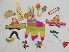 Cinco de Mayo party/Mexican Fiesta photo booth props Mexican celebration