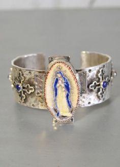 virgin mary silver bracelet