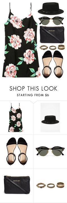 """""""Sin título #12470"""" by vany-alvarado ❤ liked on Polyvore featuring Deena & Ozzy, Carvela, Ray-Ban, MICHAEL Michael Kors and Forever 21"""