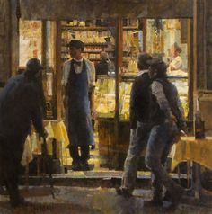 """Bar Tritone  Oil on Canvas  30"""" x 30"""""""