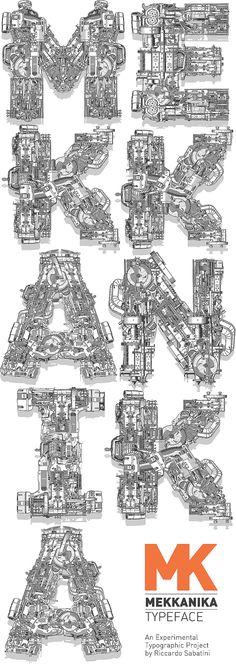 Mekkanika Typeface by Riccardo Sabatini. Just stunning.