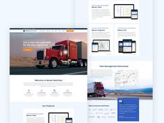Website for a Fleet Management Company designed by Magdalena Ciborowska. Dashboard Interface, Management Company, Web Design, Website, Digital, Design Web, Site Design