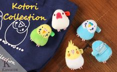 Strapya World : Soft and Downy Stuffed Plush Type Badge (Kotori Collection Series) (Budgerigar / Blue) Cute Crafts, Yarn Crafts, Parrot Pet, Clay Birds, Kawaii Gifts, Clay Figurine, All Things Cute, Toy Craft, Budgies