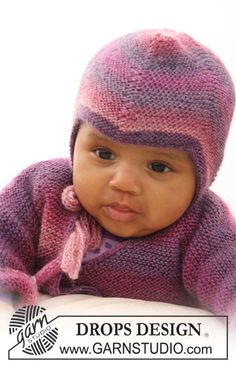 Sweet Evelina Hat - Knitted hat in garter st for baby and children in DROPS Delight - Free pattern by DROPS Design Free Baby Patterns, Knitting Patterns Free, Knit Patterns, Free Knitting, Free Pattern, Drops Design, Knitted Hats Kids, Baby Hats Knitting, Baby Crafts To Make