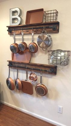 Rustic Kitchen Organization – Black Iron Pipe Pot Hanger… – Top Of The World