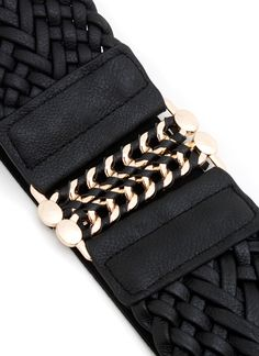 woven chain buckle stretch belt $10.40