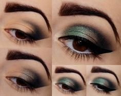 Eye-makeup that looks fabulous! Gold Makeup, Makeup For Green Eyes, Eyeshadow Makeup, Beautiful Eye Makeup, Gorgeous Eyes, Makeup 101, Beauty Makeup, Makeup Ideas, Doll Face Makeup