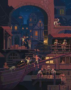 Pixel pirates - monkey island vibes #pixelart