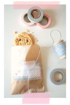 Washi tape cookie bag