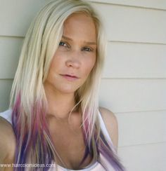 I like how the ends are pink and purple here. WHat I really want is just the pink, and my hair to be *not quite* this blonde....