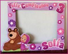 Resultado de imagen para marcos para fotos masha y el oso