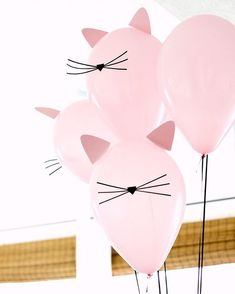"394 Likes, 9 Comments - Louisa@littlebigcompany (@littlebigcompany) on Instagram: ""DIY cat balloons very cute by @deliacreates seen via @lisafrankparties"""