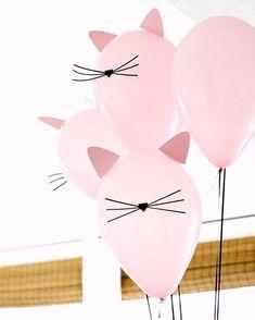 "394 Likes, 9 Comments - Louisa@littlebigcompany (@littlebigcompany) on Instagram: ""DIY cat balloons very cute by @deliacreates seen via @lisafrankparties"""