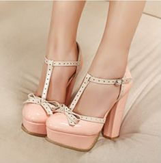 Cute Sweet Bowknot Womens Shoes Chunky High Heel Platform Buckle Pump Sandal on Chiq $22.99 : Buy Trends on CHIQ.COM http://www.chiq.com/cute-sweet-bowknot-womens-shoes-chunky-high-heel-platform-buckle-pump-sandal