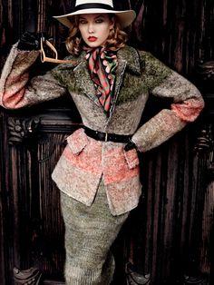 visual optimism; fashion editorials, shows, campaigns & more!: dark horse: karlie kloss by mario testino for vogue september 2014
