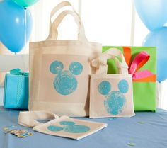 Mickey Mouse Stamped Tote Bag