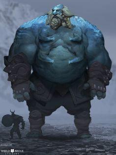 Frost Giant 1 - BIERZERKERS!, Alex Konstad on ArtStation at https://www.artstation.com/artwork/frost-giant-1-bierzerkers