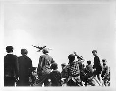"""During Berlin Airlift (07/48), USAF Lt Gail Halvorsen dropped candy bars to children in """"Operation Little Vittles."""""""